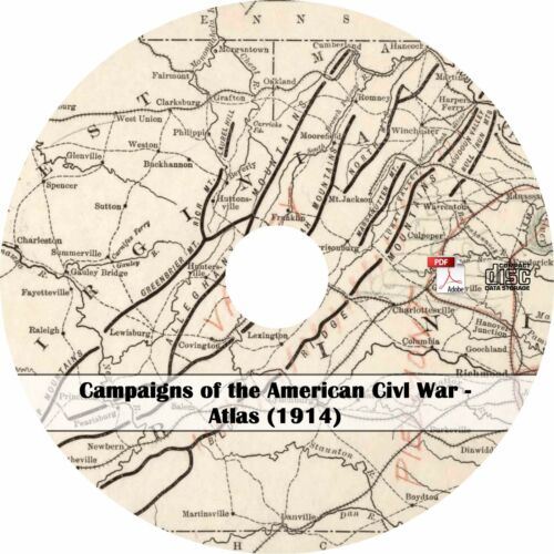 Maps History Book on CD 1914 Atlas for Campaigns of the American Civil War