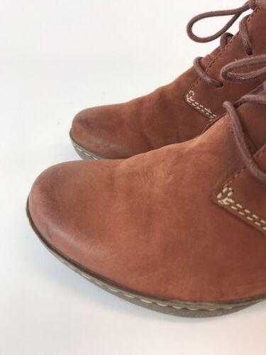 Vgc Spedizione zeppa pelle D Clarks Stivali in taglia veloce Softwear marrone Uk3 con fnPqvt