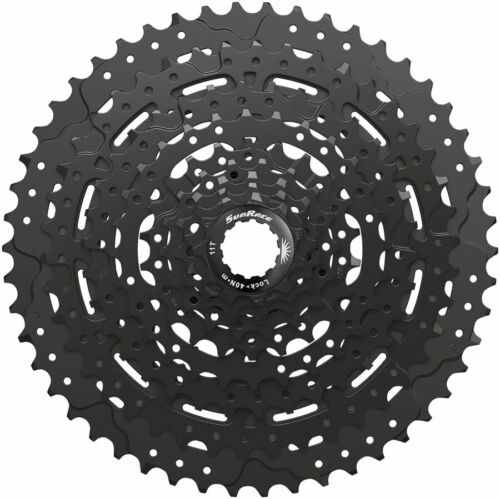9 Speed 11-50t ED Black Alloy Spider and Lockring SunRace M993 Cassette