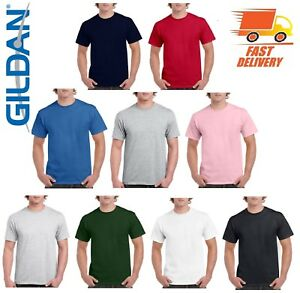 Gildan-Mens-Plain-T-Shirts-100-Cotton-G5000-Blank-Tshirt-Mixed-Colors-New-lot