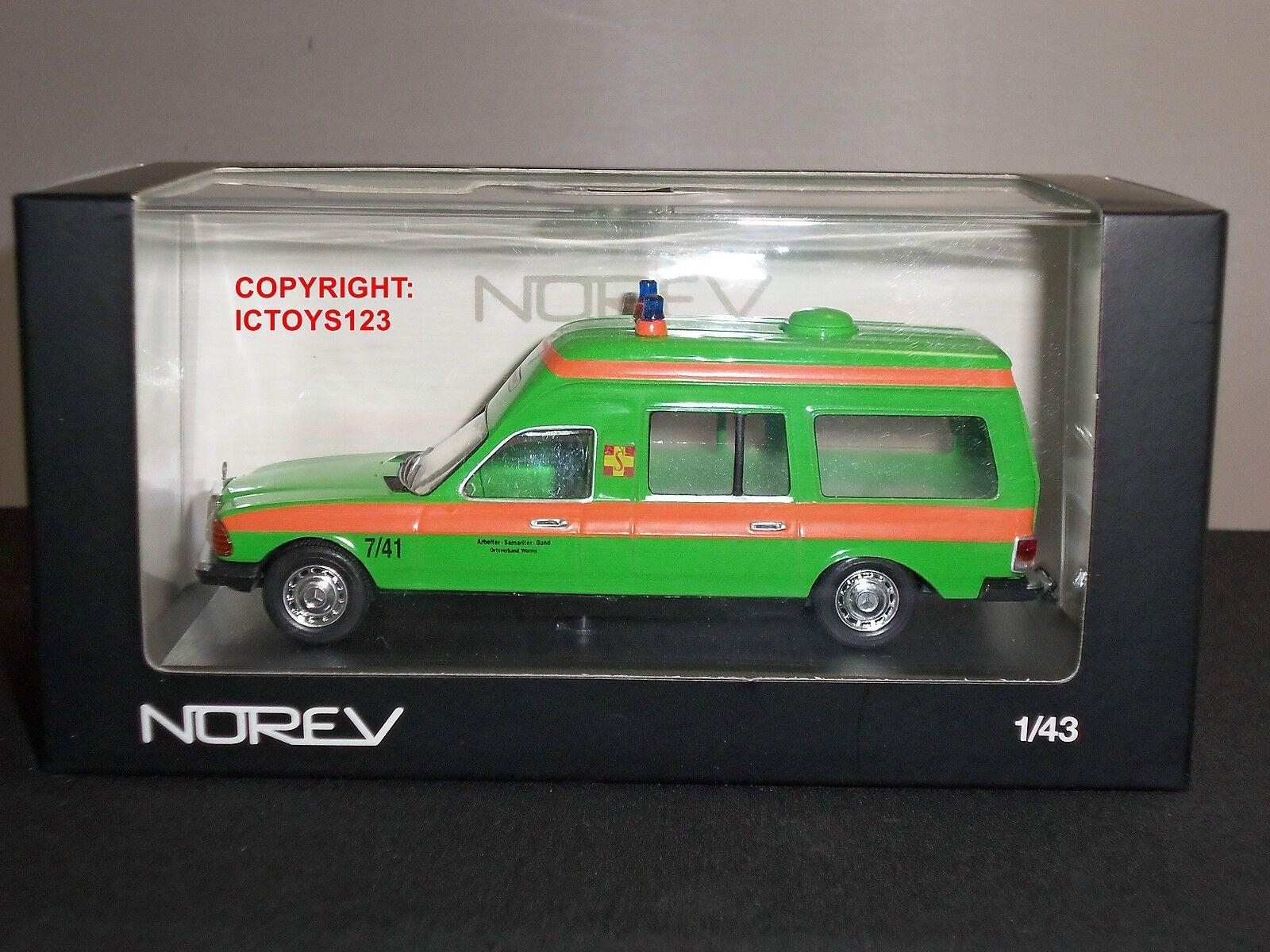 NOREV 351154 Mercedes Benz Vert Ambulance AS8 Diecast Modèle Van