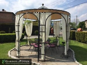 metallpavillion pavillon holland 3 80m nach ma. Black Bedroom Furniture Sets. Home Design Ideas
