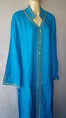 Abaya robe caftan jellabiya jalabiya jellabiya velours takscha robe taille L