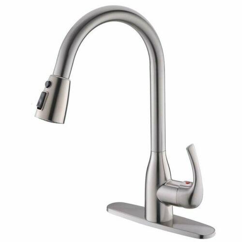 Chrome Kitchen Faucet 360° Swivel Spout Sink Pull Down Spray Mixer Tap