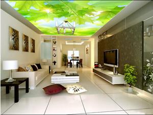 3D Leaves Green 62 Ceiling WallPaper Murals Wall Print Decal AJ WALLPAPER US