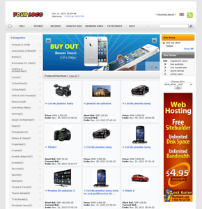 EBay Clone Auction Website (Silver) - Free Install + Hosting with SSL
