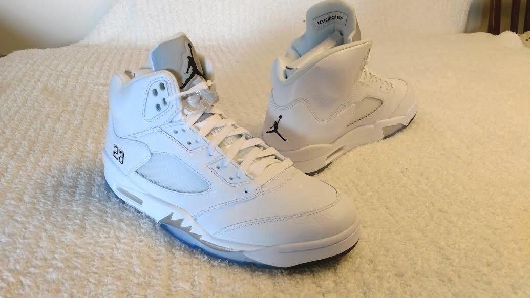 Nike Air Jordan 5 Retro White NEW with box (original receipt) Mens size10.5