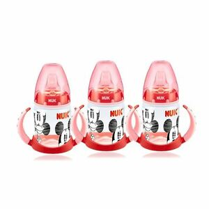 NUK-Mickey-amp-Minnie-Red-First-Choice-150ml-Learner-Bottle-3-Pack