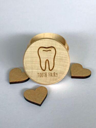 Keepsake baby tooth Tooth Fairy wooden Box trinket box