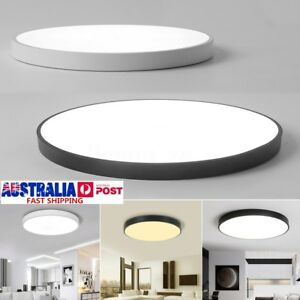 Blackwhite modern led ceiling light surface mount lamp home image is loading black white modern led ceiling light surface mount aloadofball Image collections