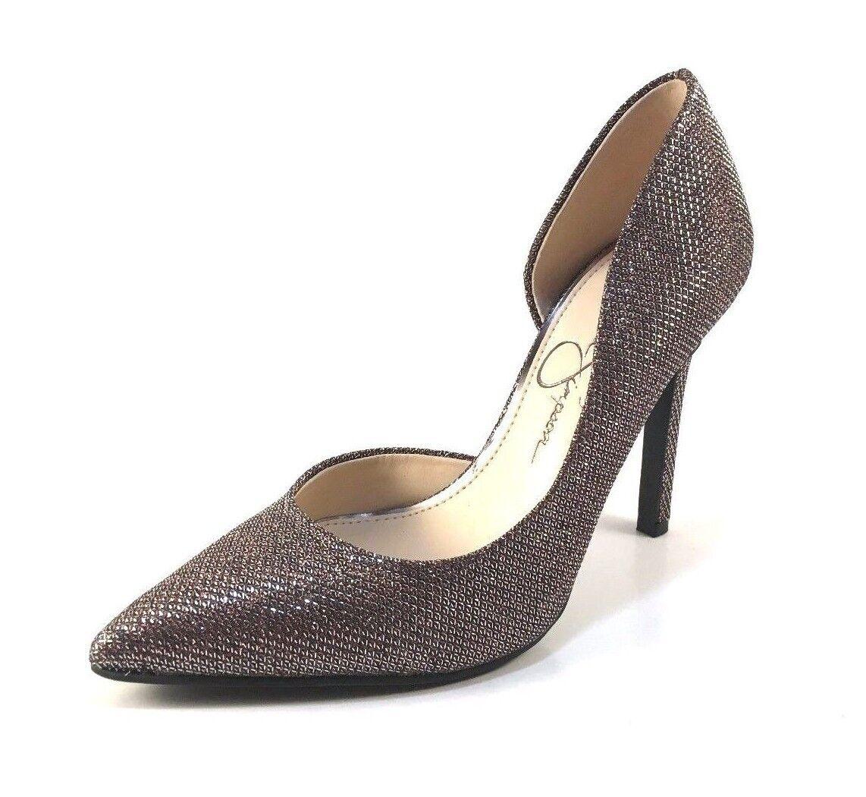Jessica Simpson Claudette Multi Bronze Glitter D'orsay Pointy Dressy Pumps