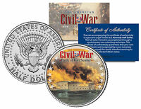 American Civil War Battle Of Fort Sumter Jfk Kennedy Half Dollar U.s. Coin