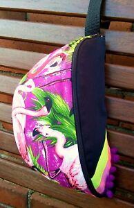 Détails Afficher Sac Festival Boho Fun Fluo Clubbing Banane Le Voyage Flamingo Sur Titre D'origine Coloré ZkPiuX