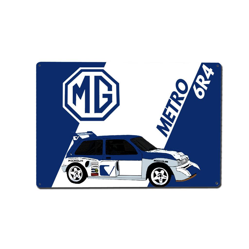 MG Metro 6R4 Rally Car Metal Wall Art / Print / Image [291533062620 ...