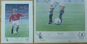 Phil-Neville-by-Keith-Fearon-Signed-Ltd-Ed-156-495-Man-Utd-Artist-Print-10453
