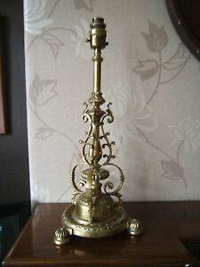 Messengers-vintage-electric-table-lamp-beautiful-material-shade-Unusual-EOL1