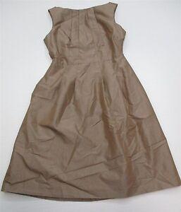 BANANA-REPUBLIC-Women-039-s-Size-2P-Petite-Tan-Brown-A-line-Skater-Dress