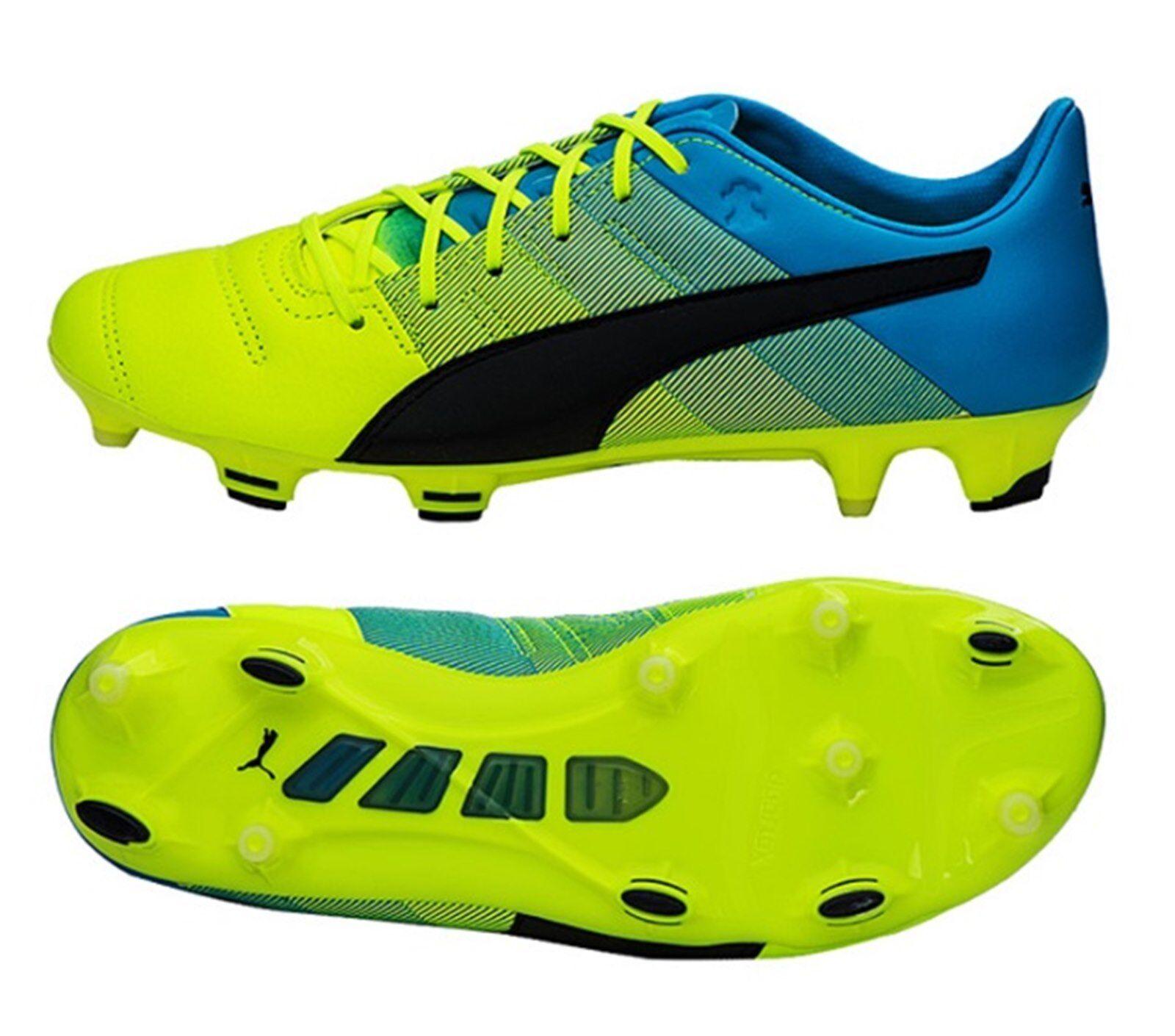 Puma Para Hombre Evo-Power 1.3 FG Botines de Cuero Zapatos De Fútbol De Cal Bota Spike 103527-01