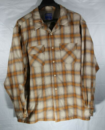 Pendleton Board Shirt Plaid Flannel Long Sleeve Or
