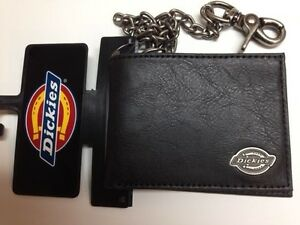 Dickies-Mens-Slimfold-Wallet-with-Antique-Nickel-Chain-Black-31DI1304