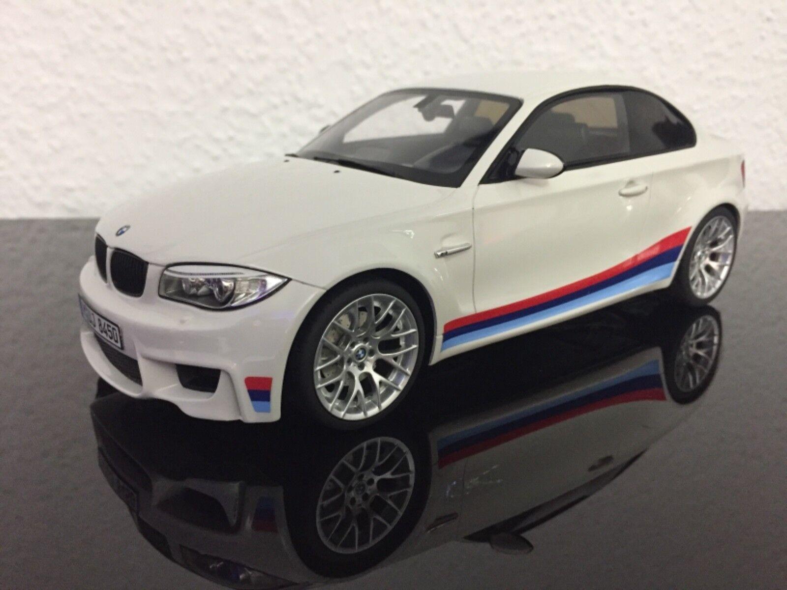 BMW 1er 1m e82 Bianco MStrisce gt703 1 18