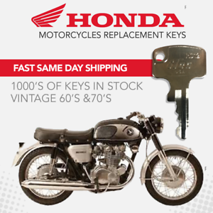 Honda Motorcycle Keys Replacement Keys For Your Igniton Ebay