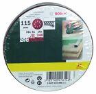 Bosch - 25 Papier de Verre pour Ponceuse excentrique Grain 80 120