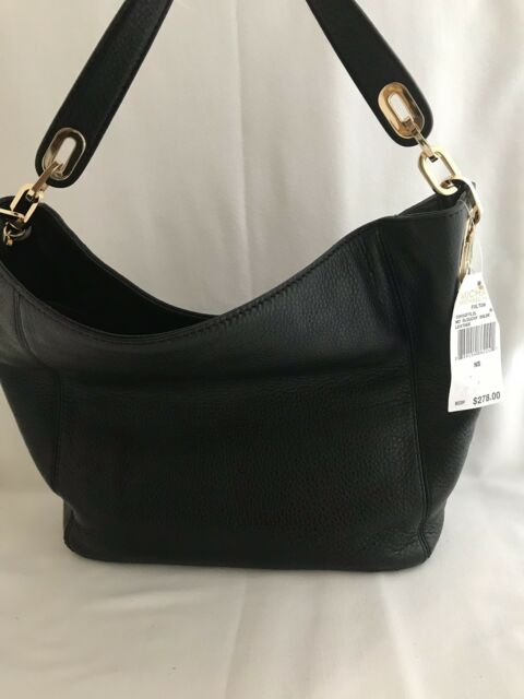 Michael Kors Medium Fulton Slouchy Shoulder Bag Black Leather ... accfc5905ebc7