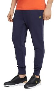 c40684ec Lyle & Scott Mens Fleece Joggers Navy Blue Skinny Sweatpants Jogging ...