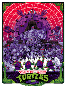 Mondo Poster Hillman Teenage Mutant Ninja Turtles Technodrome TMNT Limited Print