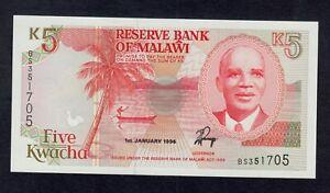 Malawi UNC P-24 1994 5 Kwacha 24b