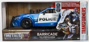98400 1 24 JADA TOYS TRANSFORMERS 5 BARRICADE blueE POWER POLICE