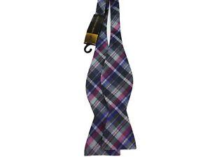 20c0099e1250 Countess Mara Men's Silk/Viscose Country Plaid Bow Tie Pink | eBay