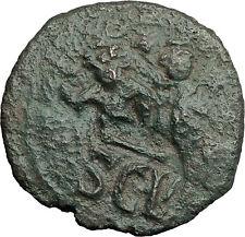 HERACLIUS & Hr Constantine 631AD Sicily Countermark Follis Byzantine Coin i59266