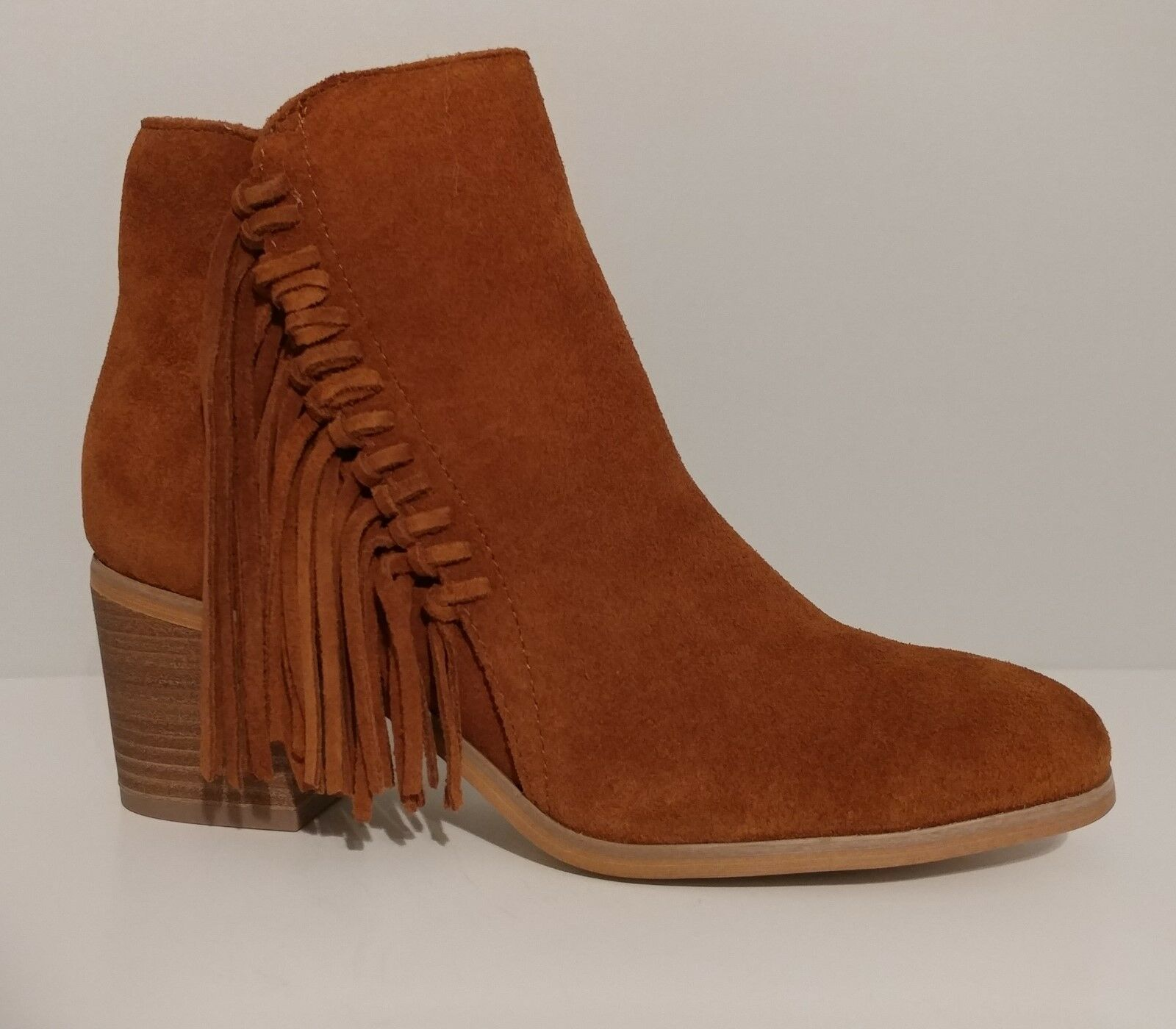 NEW   Kenneth Cole Reaction Brown Leather Boots 2.5  Heels Size 7.5M US 37.5M EU
