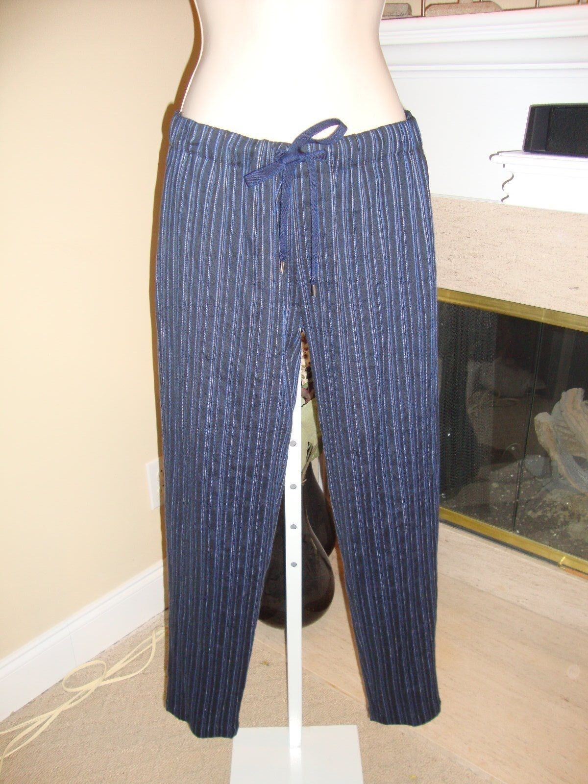 STYLISH NEW STRIPED DRAWSTRING PANTS BY VINCE (NWT)