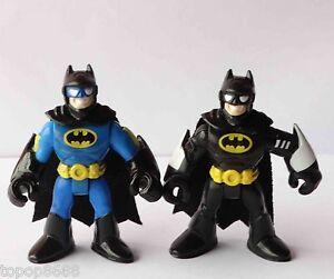 W1-LOT-2-Imaginext-DC-Super-Friends-Batman-Action-Figure-Fisher-Price-Hero
