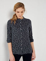 Ex White Stuff Ladies Womens Paint Dash Button Blouse Top shirt sizes 6 10 12