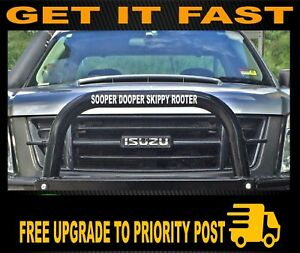 SKIPPY-ROOTER-funny-bullbar-kangaroo-outback-country-4x4-Car-Sticker-400mm