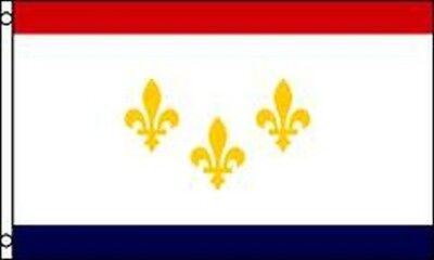 Fleur De Lis Flag 3x5ft Blue Gold Fleur de Lis NOLA French Royalty Mardi Gras