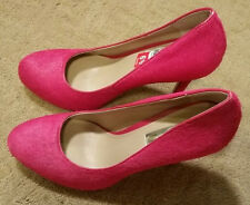 NWT! $99 INC Lilly Pink Pony Hair Pumps Hi-Heel Sz 6.5 Super HOT!