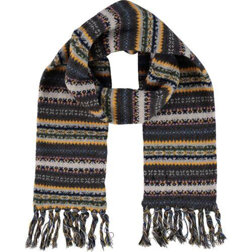 Hackett LONDON Lussuoso a Maglia 100/% Sciarpa Di Lana Rrp £ 155-fantastico regalo