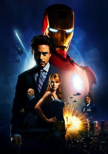 IRON-MAN-Movie-PHOTO-Print-POSTER-Textless-Film-Art-Robert-Downey-Jr-Marvel-001