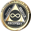 Infinity-AA-Medallion-Elegant-Black-Gold-Silver-Plated-Sobriety-Chip-Coin thumbnail 3
