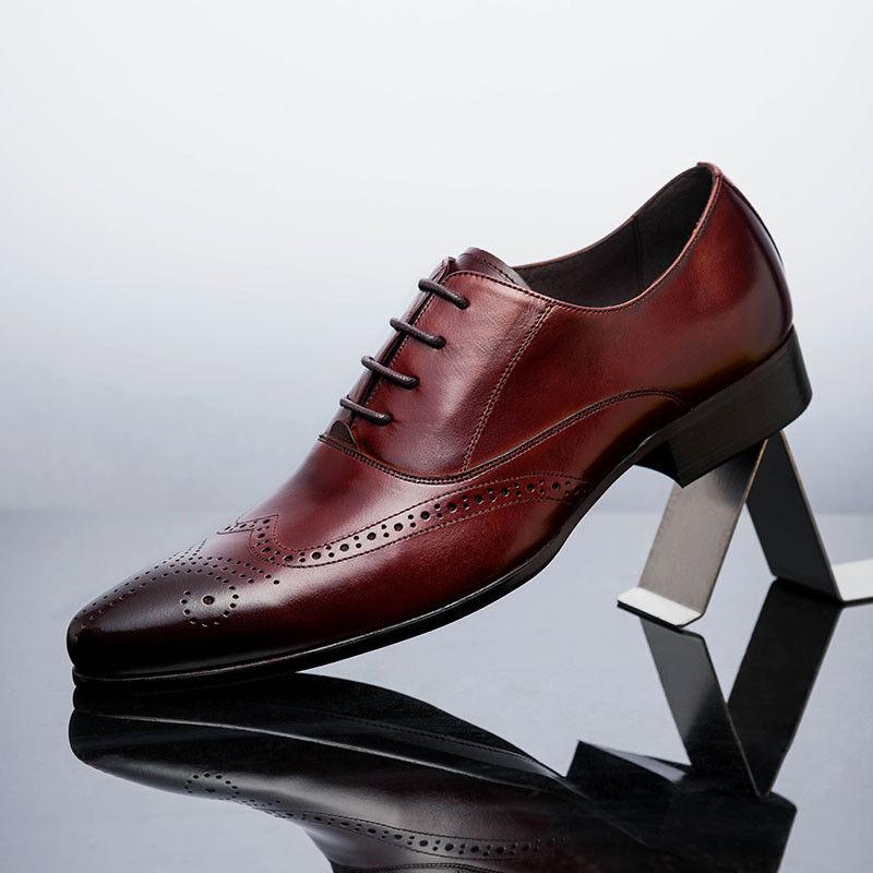 consegna diretta e rapida in fabbrica New Genuine Leather Uomo Dress Formal Formal Formal scarpe Lace Up Wing Tip OM6503  liquidazione