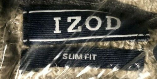 IZOD Mens B/&T Newport Marled Qrtr Zip 7 Gauge Textured Swtr,New Rock Heather,XLT