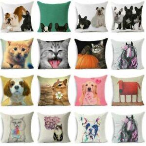 Home-Decor-18-039-039-cartoon-animal-pillowcase-throw-sofa-car-waist-cushion-cover