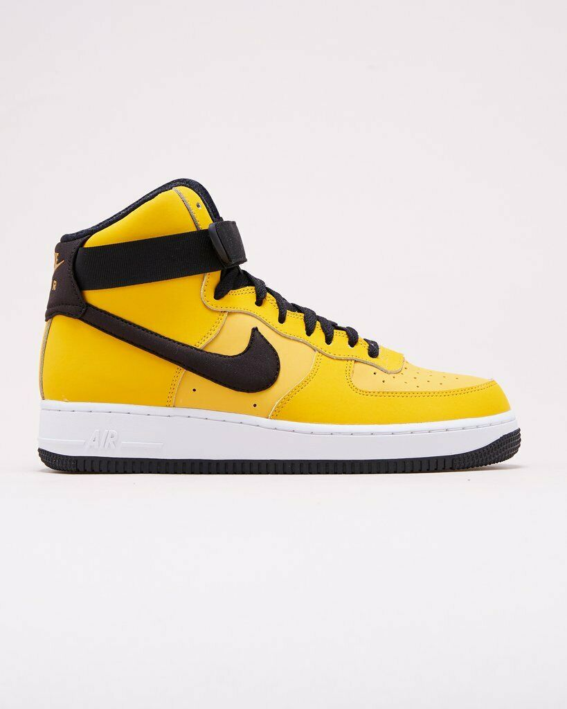 2018 Nike Air Force 1 High '07 Leather SZ 8 Yellow Ochre AF1 Hi QS AT4963-700