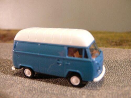 1//87 Brekina VW T2 Kasten Hochdach blau 33813