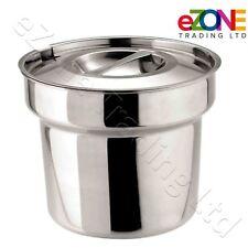 Bain Marie Round Pot Amp Lid Stainless Steel Soup Gravy Mushy Peas Pot 4ltr 7pt